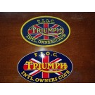Triumph International Owners Club oval patch and oval sticker