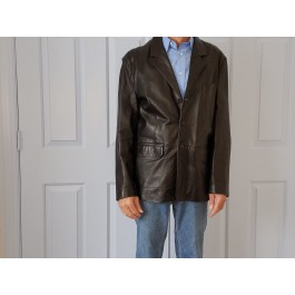Tannery West Men's Leather Jacket Size S