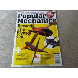 Popular Mechanics Magazine  January 2011- Flying Car